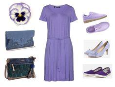 letná sukňa pre moletky, smaragdová blúzka pre moletky, modra kabelka, tmavomodra kabelka, letné šaty pre moletky, fialové úpletové šaty pre moletky Outfit, Polyvore, Fashion, Outfits, Moda, Fashion Styles, Fasion, Kleding, Clothes
