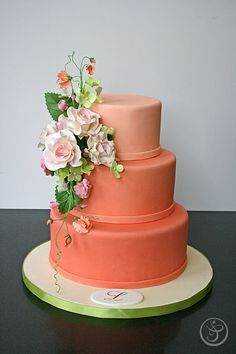 Spring wedding cake decorated by Lucy Parkinson, graduate of The French Pastry School's L'Art du Gateau (January 2012 session)