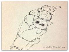 羊毛フェルト作成6日目 羊毛フェルト 猫のアトリエ「メリーモロー」