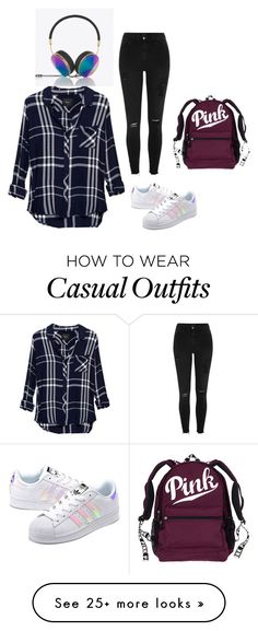 """""""Casual outfit"""" by ambermoniz45 on Polyvore featuring adidas Originals, Rails, River Island and Frends"""