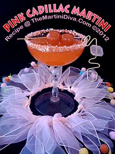 Happy PINK DAY - Try this PINK CADILLAC MARTINI @ Happy Hour!.  Click image for the Recipe & Free Recipe Card