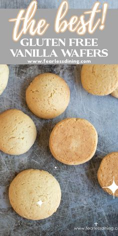 If you love cookies, wait until you try these gluten free vanilla wafers. My nilla wafers recipe is a delicious copycat of those famous vanilla wafers. Crispy on the outside and soft on the inside. They are the best cookies. fearlessdining Best Gluten Free Cookie Recipe, Gluten Free Sugar Cookies, Healthy Gluten Free Recipes, Foods With Gluten, Gluten Free Cooking, Sugar Cookies Recipe, Gluten Free Desserts, Paleo, Dessert Recipes