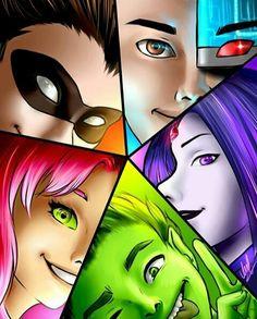 Funny Comics Superhero Teen Titans Ideas For 2019 Teen Titans Love, Teen Titans Fanart, Original Teen Titans, Anime Teen, Anime W, Young Justice, Raven Beast Boy, Desenhos Cartoon Network, Arte Dc Comics