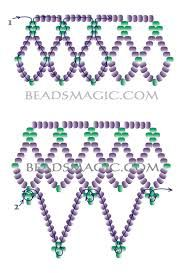 Free pattern for necklace Junona (Beads Magic)Free Beading Projects with Instructionsnecklace tutorial white with black accentsCould use this pattern as the skirt on an ornament cover Beading Patterns Free, Seed Bead Patterns, Free Pattern, Weaving Patterns, Embroidery Patterns, Beaded Ornament Covers, Beaded Ornaments, Diy Ornaments, Glass Ornaments