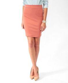 Knee Length Bodycon Skirt | FOREVER 21 - 2021840557