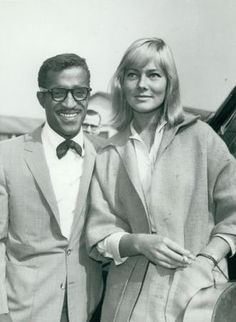Vintage photo of Sammy Davis Jr. with his wife May Britt. Sammy Davis Jr, Vintage Photos, Couple Photos, Classic, Image, Collection, David, Pictures, Style
