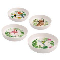 Tropical Bamboo Bowls Set #tropical #summer #sommer #himmingbird #flamingo #giraffe #birds #bowls #schalen #schüsseln #bamboo #set #ppd #paperproductsdesign