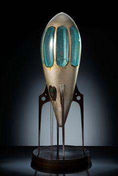 New Work, Rik Allen & Shelley Muzylowski Allen, Blown Glass Art & Multi-Media Spaceship.