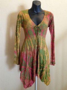 Plus Size Tie Dye Boho Gypsy Asymmetrical Fairy Hem Yoga Top Blouse Green Sexy | eBay