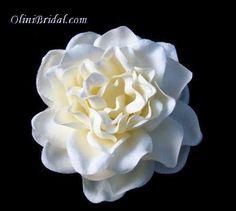 Ivory Gardenia Bridal Hair Flower Clip