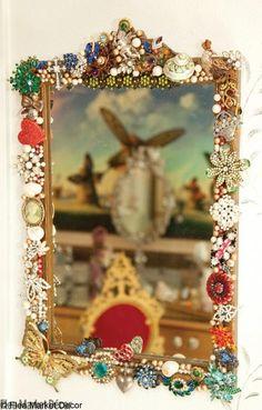 jewelry decorated mirror