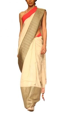 Off-white Khadi Saree