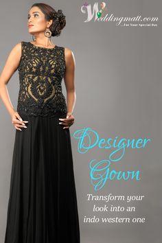 Designer Gown Transform your look into an indo western one.  #WeddingMatt #WeddingCollection  Shop From:- http://www.weddingmatt.com/