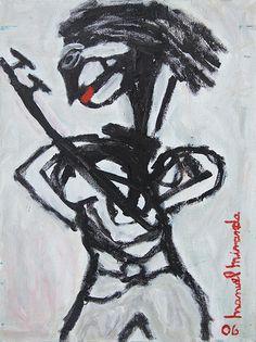 Folk Expressionist Art Reproduction Featuring by manuelmirandart, $15.00