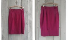 Vintage maroon wool Pappagallo funnel skirt by bonmarchecouture, $18.00