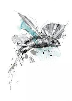 flying fish art flying fish illustration digital art