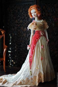 BJD Art Doll Lily. шарнирная кукла из фарфора - ярко-красный, кукла из фарфора, фарфоровая кукла