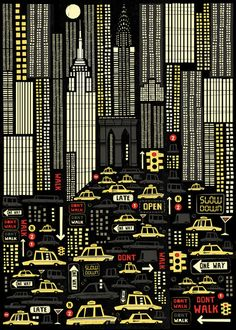 """""""New York Portrait"""" Art Print by Peter Donnelly Illustration on Society6."""