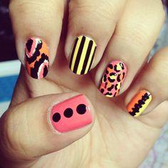 Ikat & Leopard-print nails <3 xx
