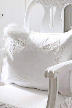 White Cottage, Rose Cottage, White Farmhouse, All White, Pure White, White Stuff, White Things, Snow White, Vibeke Design