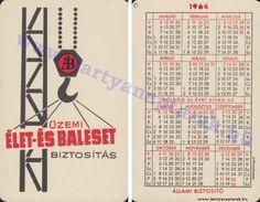1964 - 1964_0162 - Régi magyar kártyanaptárak Pocket Calendar, Retro, Cards, Pockets, Pocket Diary, Maps, Retro Illustration, Playing Cards