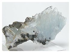 Blue Barite Crystal Cluster Mineral Specimen by FenderMinerals,