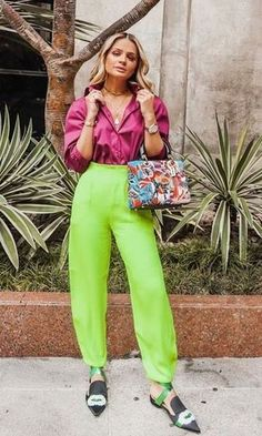 Check out this Classy over womens fashion Neon Outfits, Colourful Outfits, Colorful Fashion, Spring Outfits, Fashion Outfits, Womens Fashion, Fashion Trends, Cheap Fashion, Louboutin Sneakers