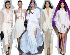 total white: Semana de la Moda de Nueva York Primavera Verano 2014 Tendencias blanco total look