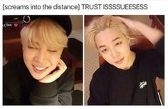 Jimin looking younger in the first pic and in the second fucking my mind up by looking like his own age like BOI please my heartu ;-;