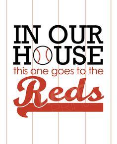 cincinnati reds sports team wall art in our by HeartPrintsbymisty, $18.50