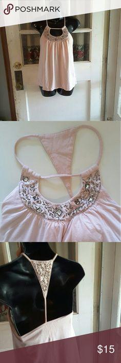 Victoria's secret bra top Fashion best kept secret lite pink with bedding on neckline and back  14 inches from armpit to armpit Victoria's Secret Tops Tank Tops
