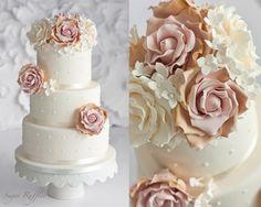 Vintage Rose Wedding Cake~ we ❤ this!  moncheribridals.com ~ #weddingcake