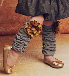 Homemade leg warmers--- too cute, I could die!