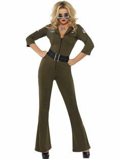 Top Gun Fancy Dress, Couples Fancy Dress, Fancy Dress Shops, 90s Fancy Dress, Girl Costumes, Adult Costumes, Costumes For Women, 80s Costume, Top Gun Kostüm