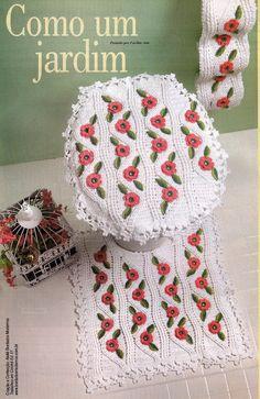 Crochet bathroom set ❤️LCB-MRS ❤️ with diagrams. --- Facilite Sua Arte: Jogo de banheiro 7 - Tapete da pia