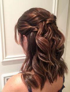 penteado semi preso long bob