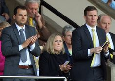 Norwich City's new sporting director Stuart Webber watched Saturday's 7-1 win over Reading at Carrow Road alongside technical director Ricky Martin. Picture by Paul Chesterton/Focus Ima…