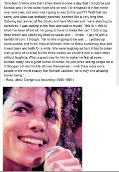 Hahha that's awesome! I would have loved to have had a food fight with MJ. That sounds great