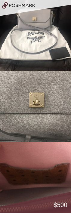 31fc022bc6eee Authentic MCM Silver Crossbody Bag Brand New Authentic MCM Silver Crossbody  Bag Brand New with dustbag