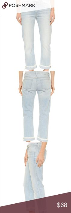 NWOT Frame Denim Le Grand Garçon in Earls Court NWOT. Never worn. Stonewashed FRAME boyfriend jeans with dramatic shreds and 5-pocket styling. Single-button closure and zip fly.  Fabric: Denim. 100% cotton. was. Made in the USA. Frame Denim Jeans