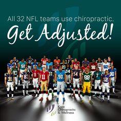 All 32 #NFL teams use #chiropractic. #GetAdjusted! #SuperBowl #SB51