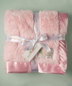 Look at this #zulilyfind! Applesauce 30'' x 40'' Pink Plush Baby Blanket by Applesauce #zulilyfinds