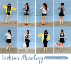 Fashion mixology: 8 outfits from 8 pieces