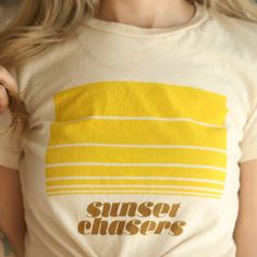 SUNSET CHASERS T-shirt - 1970's vintage inspired design - by See Love