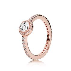Classic Elegance Ring, PANDORA Rose™ & Clear CZ - 180946CZ