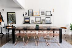 A beautiful big dining table makes for great entertaining!