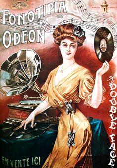 Phonograph art, Fonotipia Odeon ca. 1908