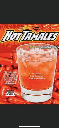 Fireball Drinks, Liquor Drinks, Wine Cocktails, Dessert Drinks, Cocktail Drinks, Alcoholic Drinks, Beverages, Fireball Recipes, Fancy Drinks