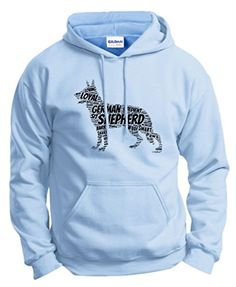 Dog Accessories German Shepherd Word Art Dog Puppy Owner Gift Hoodie Sweatshirt 2XL LtBlu *** Want to know more, click on the image.