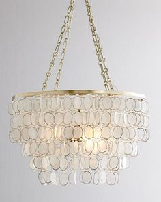 Aurora Capiz Shell Chandelier by NM EXCLUSIVE at Horchow.